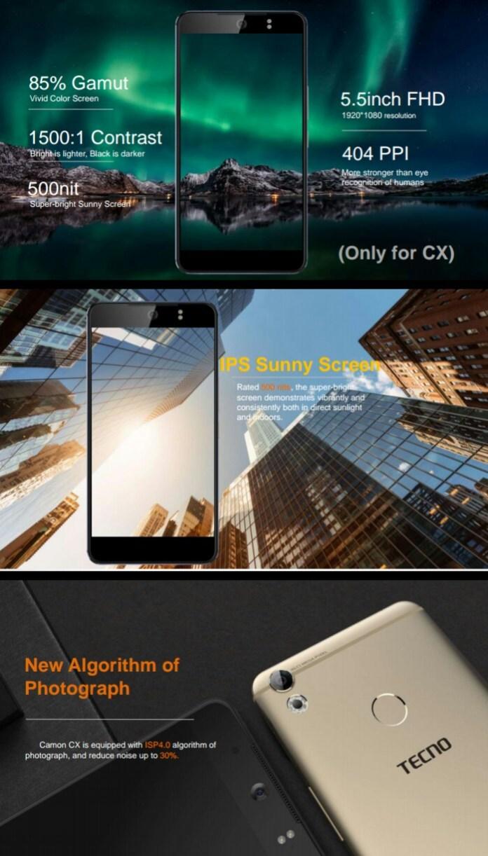 TECNO Camon CX and Camon CX Air – Selfie Camera