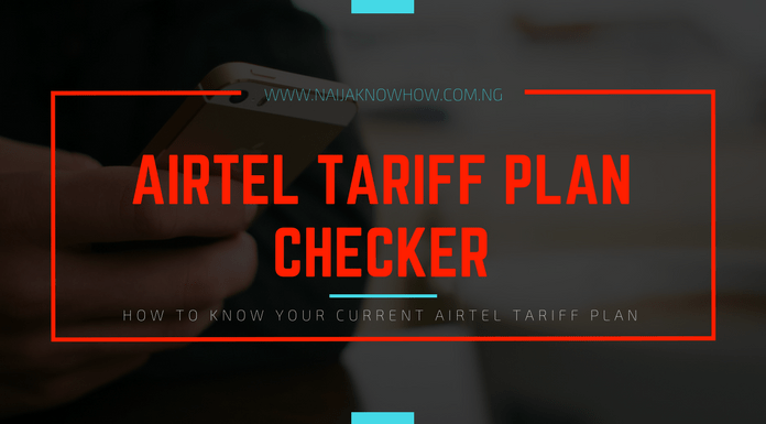 How to check Airtel tariff plan in Nigeria