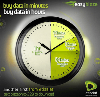 Etisalat BlazeOn Data Plan
