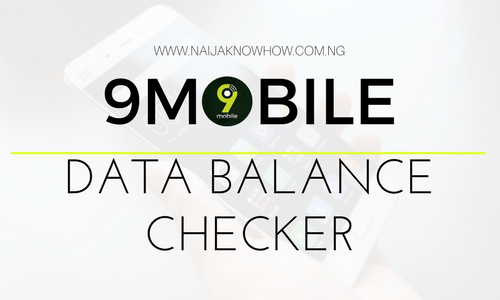 HOW TO CHECK 9MOBILE DATA BALANCE