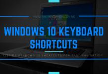 List of Windows 10 Keyboard Shortcuts