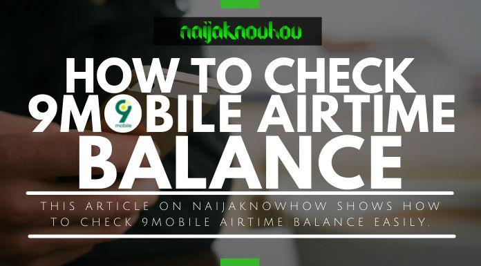 check 9mobile airtime account balance