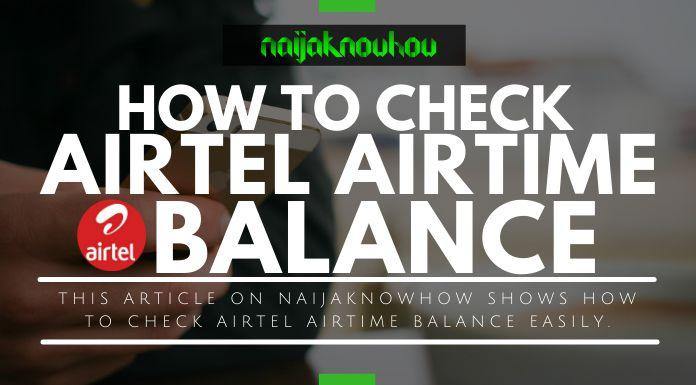 check airtel airtime account balance