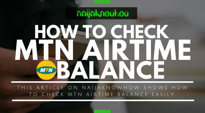 check mtn airtime account balance