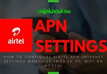 AIRTEL APN SETTINGS (ACCESS POINT NETWORK)