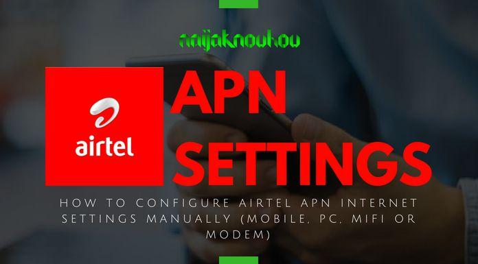 AIRTEL APN SETTINGS (ACCESS POINT NETWORK)