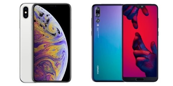 iPhone XS and Huawei P20 Pro