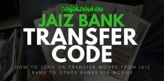 JAIZ BANK TRANSFER CODE
