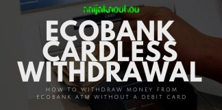 ecobank cardless withdrawal
