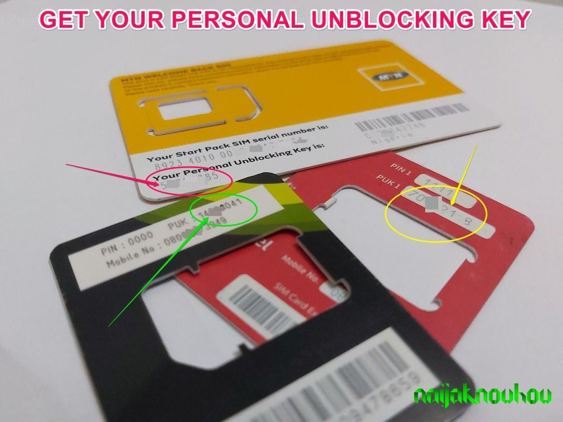 Get PUK Code on SIM Pack - MTN Airtel 9mobile Glo