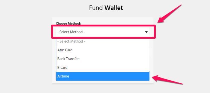 Aimtoget - Choose wallet funding method