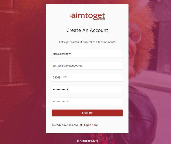 Aimtoget - register