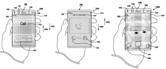 Samsung Patents Flexible Slide Screen Phones