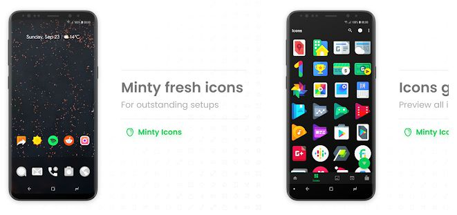 Minty Icons Pro - customization app for android