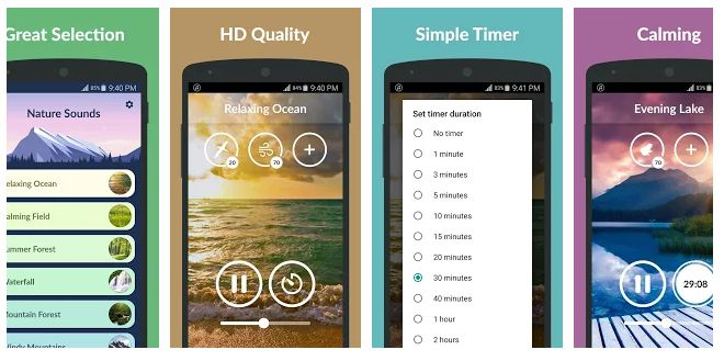 Nature Sounds - android app for healthy sleep