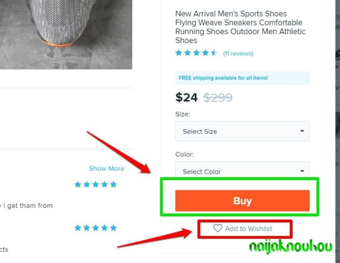 add to cart or buy