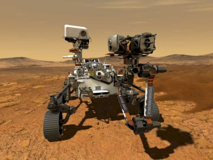 Picture of NASA Perseverance Rover while on Mars