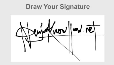 How to create a digital signature online
