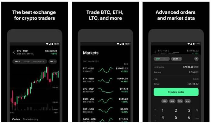 Coinbase Pro Bitcoin and Crypto Trading