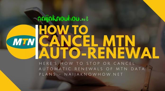 how to cancel mtn data auto-renewal
