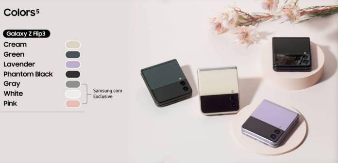 Galaxy Z Flip 3 5G Colours