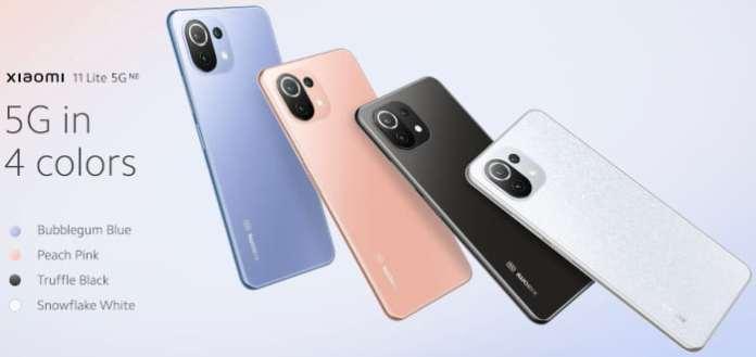 Xiaomi 11 Lite 5G NE Colours