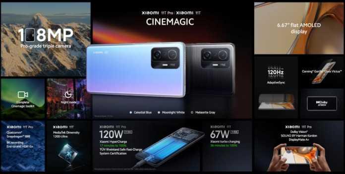 Xiaomi 11T Specs