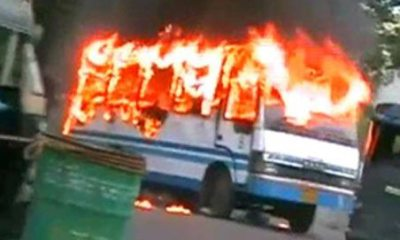 bus on fire