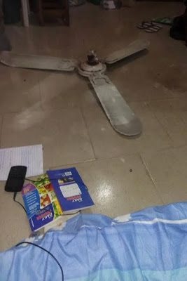 Final year uniuyo student escapes death as ceiling fan falls off narrated how he could have been killed after the ceiling fan in his hostel broke and came crashing down on saturday morning january 14th aloadofball Gallery