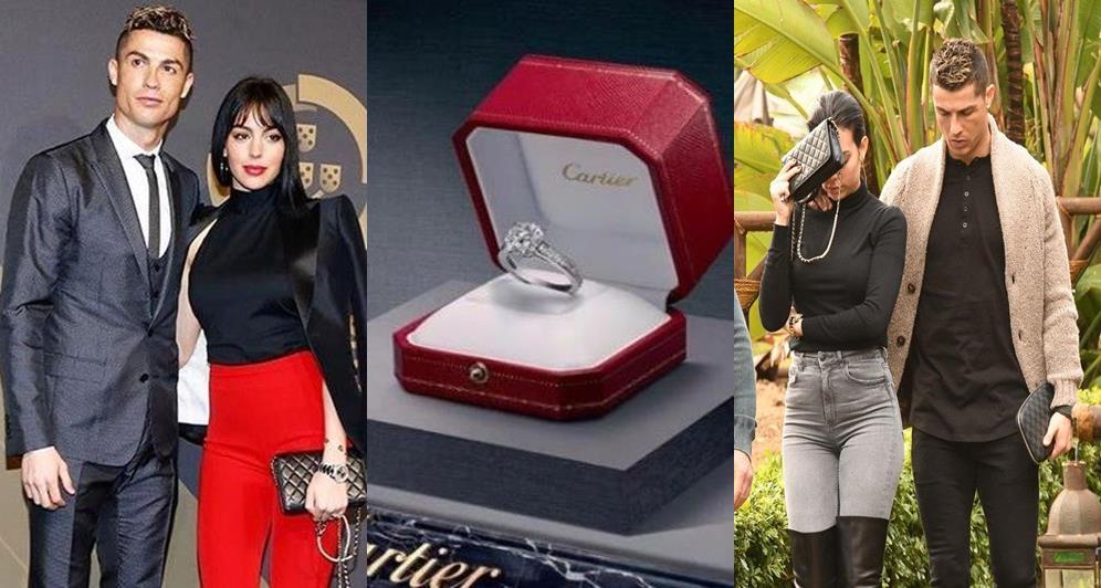 Cristiano Ronaldo Reportedly Engages Girlfriend Georgina Rodriguez With Cartier Diamond Engagement Ring Worth N300m Photos Naijalog