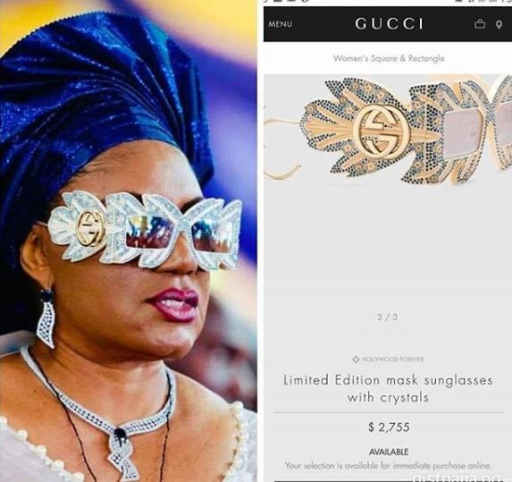 Anambra first lady rocks Gucci sunglasses worth N1m