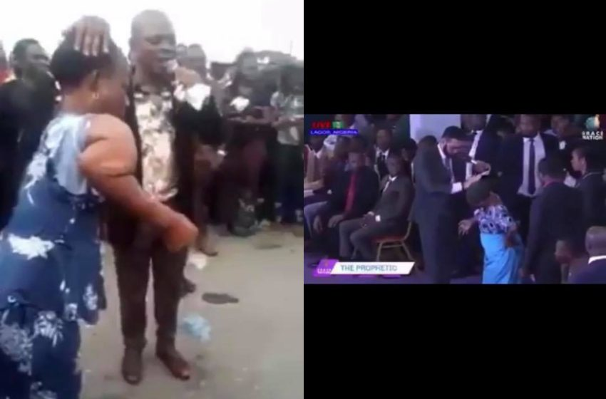 Two Nigerian Pastors allegedly use same woman for same miracle (videos)