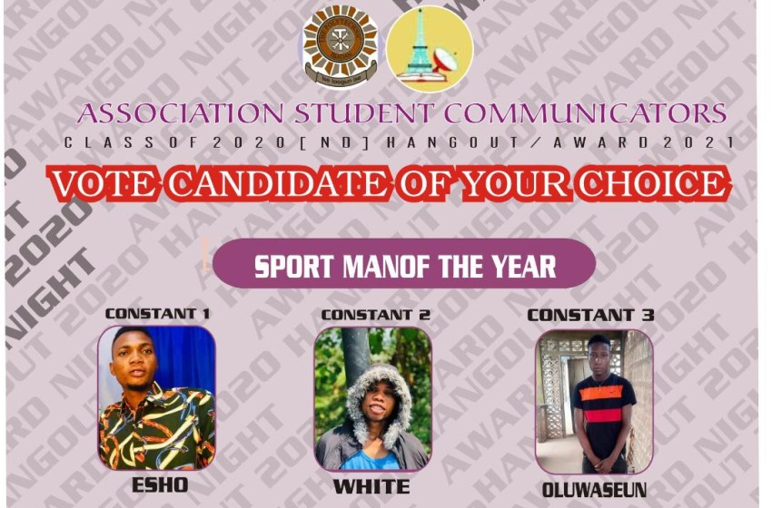 VOTE STUDENT SPORT MAN OF THE YEAR ASCOM AWARDS