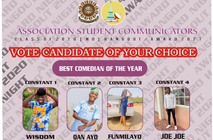 VOTE STUDENT COMEDIAN OF THE YEAR ASCOM AWARDS