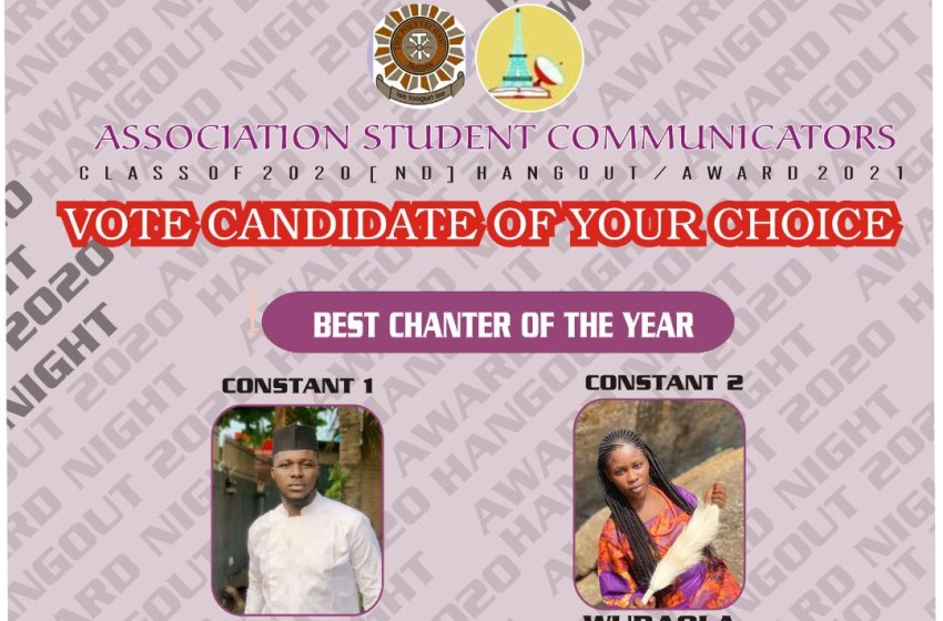 VOTE STUDENT CHANTER OF THE YEAR ASCOM AWARDS