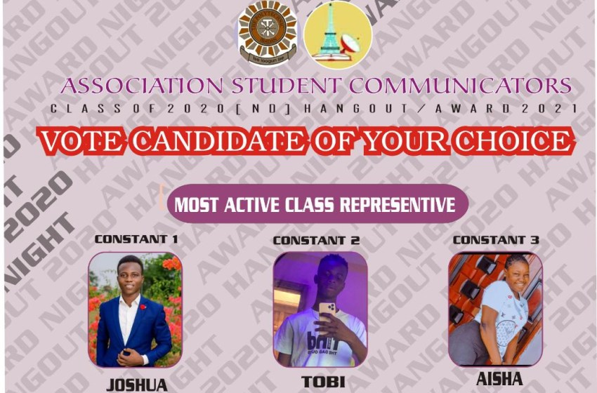 VOTE STUDENT MOST ACTIVE CLASS REPRESENTATIVE OF THE YEAR ASCOM AWARDS