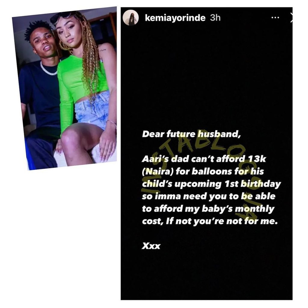 Lyta's baby mama drags him online, says he can't afford N13k to buy balloons for son's birthday