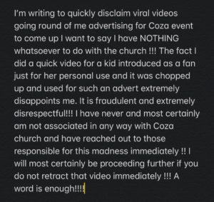 Davido Denies Involvement in Coza Video [Full Video]