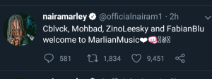 Naira Marley launches New Music Records & Signs four artists