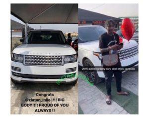 Zlatan Ibile Celebrates his 25th Birthday with new Range Rover