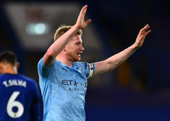 Manchester City to be without injured De Bruyne for six weeks