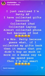 I Take My Gifts Back After a Breakup - Shade Ladipo