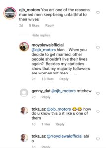 You Are One Of The Reasons Married Men Keep Being Unfaithful Fan Blasts Moyo Lawal
