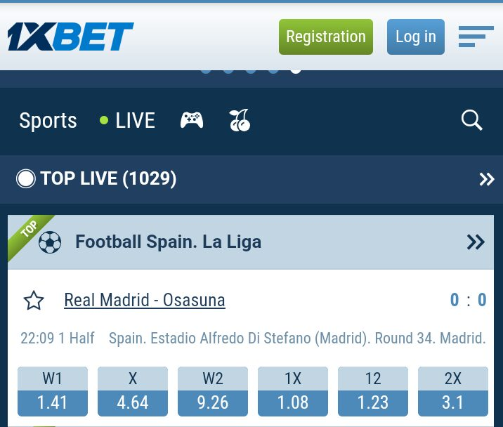 REGISTER ON 1XBET GAMING/  PREDICTION PLATFORM.