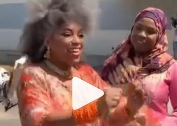 Yeni Kuti rejoices after Receiving a brand new car on her 60th birthday.