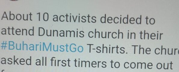 Activists Arrested At Dunamis Church For Wearing Buhari Must Go Shirts