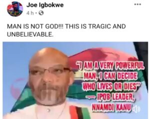 """""""I Can Decide Who Dies Or Live, I Control 2 Million People"""" - IPOB Leader Nnamdi Kanu"""