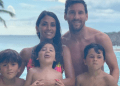 Meet Leo Messi's Family Cooling off in a Pool