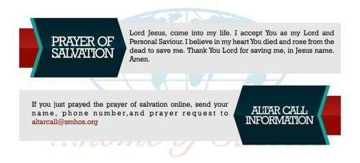 Salvation Ministries - David Ibiyeomie Prayer Request, Contact