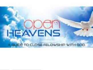 Open Heavens Daily Devotional For 4th October